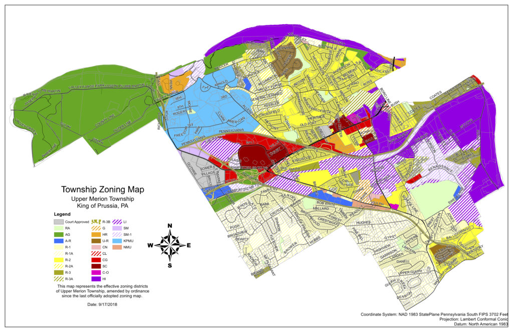 King Of Prussia Historical Society Township Zoning Maps